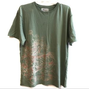 Gypsy 05 Asian Top Graphic T-shirt Green Size XL